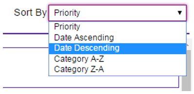 date descending